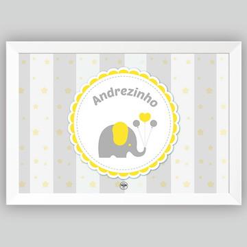 Decoração Pôster Bebê Elefante Personalizado