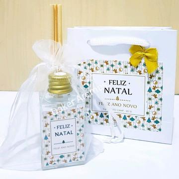 Kit de Natal aromatizador vidro 30ml + sacola