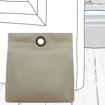 Peso de Porta Marfim Moderno e Elegante