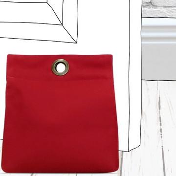Peso de Porta Vermelho Moderno e Elegante