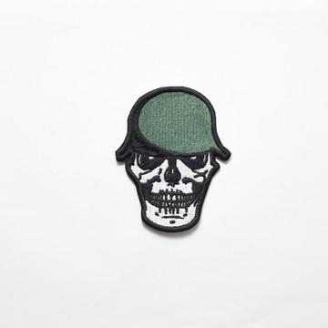 0eefb40ed8c48 Patch bordado - Caveira Capacete Militar Verde