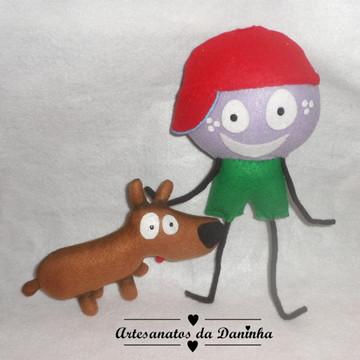 Baby TV Personagens Mick e Cachorrinho em Feltro