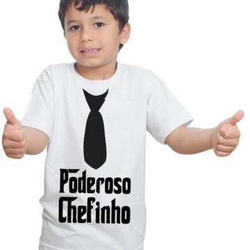 Camiseta Poderoso Chefinho Gravata Infantil