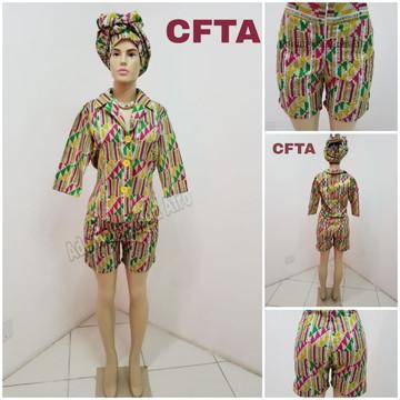 CONJUNTO FEMININO EM TECIDO AFRICANO - CFTA
