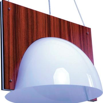Luminária Pendente Madeira Niteroi 48cm - 36.24