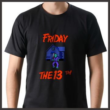 Camiseta Geek Games Sexta-Feira 13 NES
