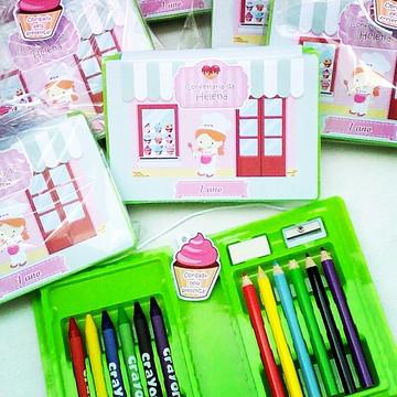 Lembrança kit pintura confeitaria