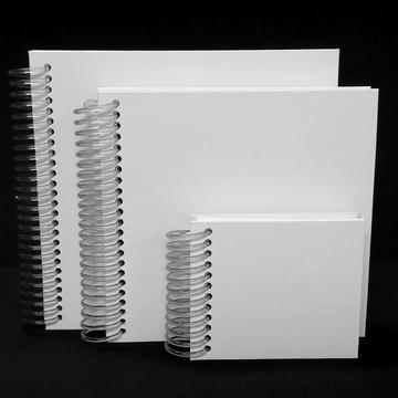 Kit Caderno Quadrado Branco