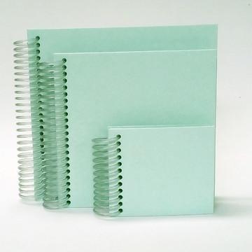 Kit Caderno Quadrado Verde