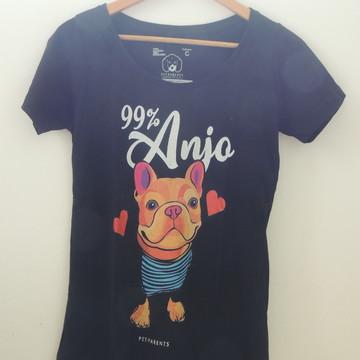 Camiseta Bulldog Francês – 99% Anjo