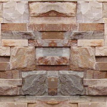 Papel de Parede Mosaico Sob Pedras Canjiquinha Rosadas
