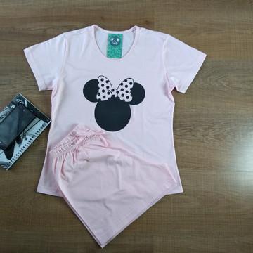Pijama de algodão feminino Minie