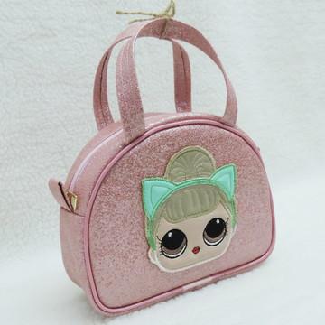 Bolsa Infantil Lol Rosa Glitter