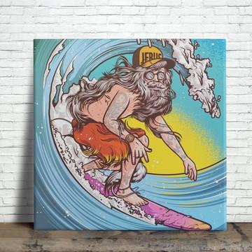 Azulejo Decorativo - Surfista Hippie