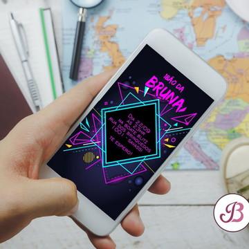 Convite Neon Party para Whatsapp