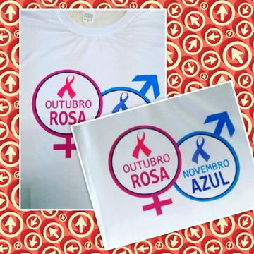 Camiseta outubro rosa novembro azul
