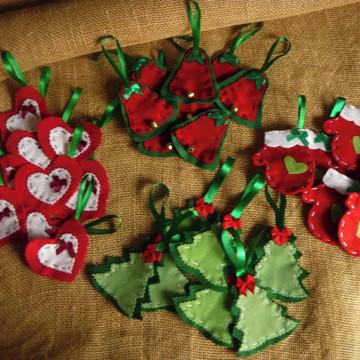 Lembrancinha de Natal - enfeites árvore