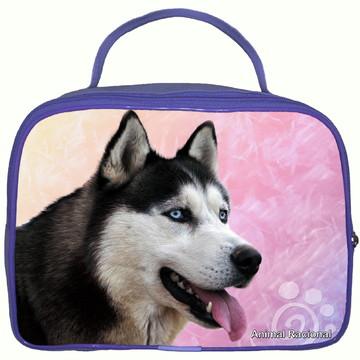 Necessaire Frasqueira Cachorro Husky Siberiano
