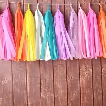 Cordão de Franjas Festa UNICORNIO Colors TASSEL