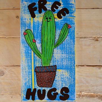 Placa Decorativa Free Hugs