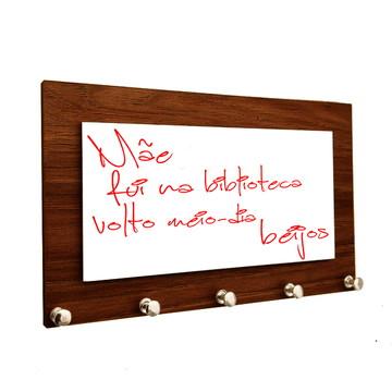 Porta Chaves e Cartas Personalizado Com Lousa para Recados