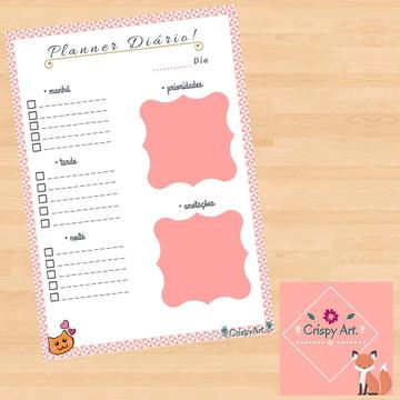 Planner Diário Digital – Modelo: Rosé gatinho