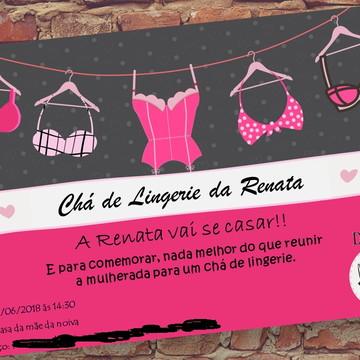Convite digital para chá de lingerie