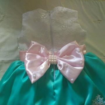 vestido de luxo verde e rosa