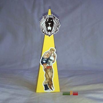 Caixa pirâmide sete pecados capitais
