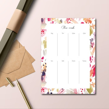Planner de mesa (semanal) Brush