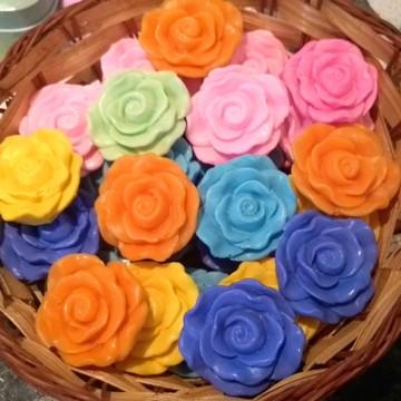 50 Sabonete Mini Florzinha primavera