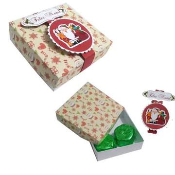 ARQUIVO caixa para mini trufa de natal