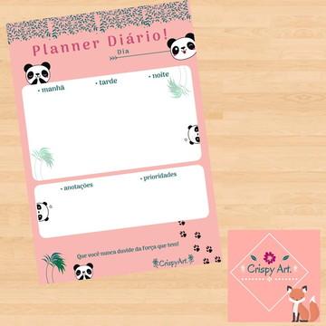 Planner Diário Digital – Modelo: Panda