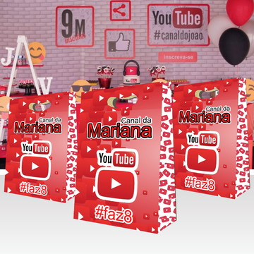 Sacola YouTube Personalizada
