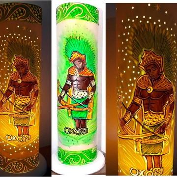 Luminária Oxóssi - Presentes Guias de Umbanda