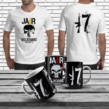 4acf0c8ea Kit Camiseta Jair Bolsonaro Caneca Jair Bolsonaro Bolsomito
