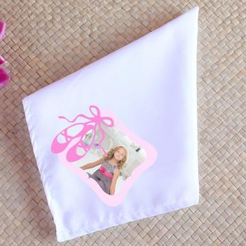 Guardanapo de tecido sublimado com foto - sapatilhas de balé