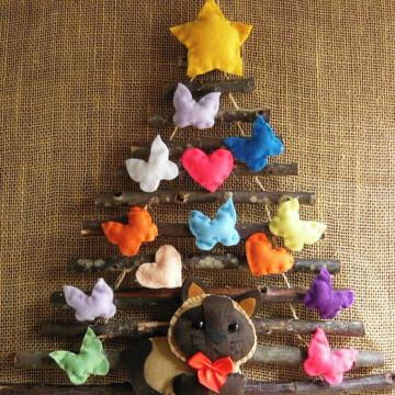 Árvore de Natal de Parede Gatinho