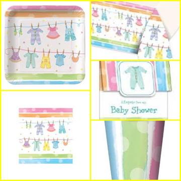 Kit Descartáveis Chá de Bebê - Baby Clothes