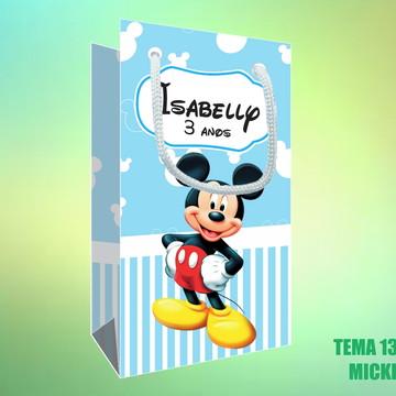Sacola Personalizada em Papel Sulfite - Mickey