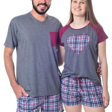 Kit Pijama para Namorados Curto
