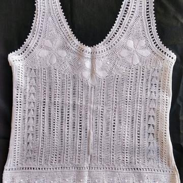 d1ebd84360 Blusa em renda renascença branca