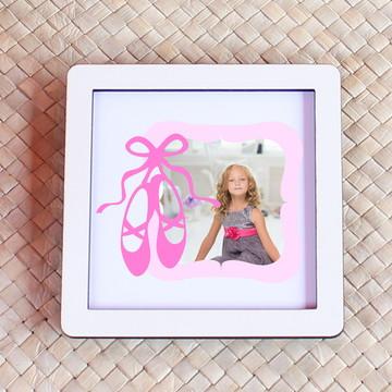 ba48c3dfb2 Placa quadrinho com impressão com foto - sapatilhas de balé