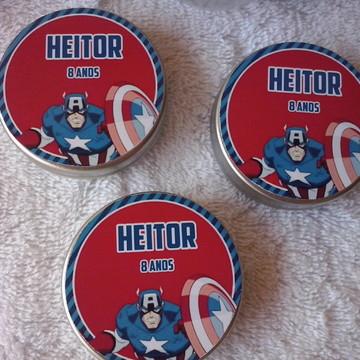 Latinhas Confete Lembrancinha Capitao America