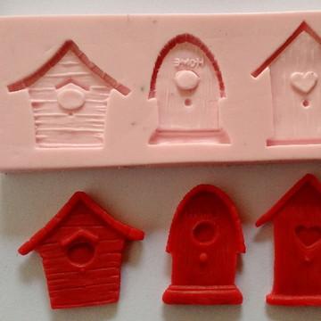 molde de silicone casinha
