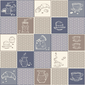 Adesivo de Azulejo Cozinha Café 10x10cm com 100un