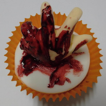 Cupcake Mãozinha Halloween