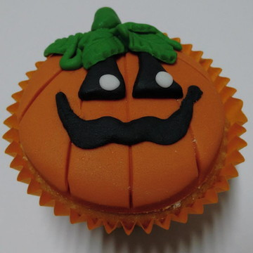 Cupcake Abóbora Halloween