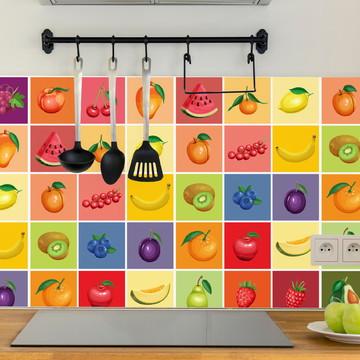 Adesivo de Azulejo para Cozinha Frutas 20x20 cm 24un