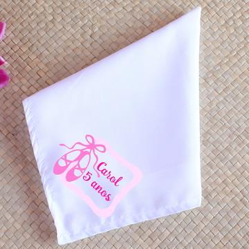 Guardanapo de tecido sublimado com texto - sapatilha de balé